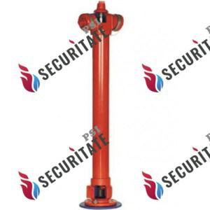 Hidrant suprateran - dispozitiv instalat la o conducta de apa principala care permite racordarea echipamentului de interventie al pompierilor şi obtinerea alimentarii continue cu apa. Debitul specific al unui hidrant exterior pentru incendiu se considera de 5 l/s. In lipsa unor masuratori asupra variatiei debitului hidrantilor de incendiu exterior fara furtun, acesta poate fi stabilit in funcţie de presiunea din reteaua de alimentare cu apa .